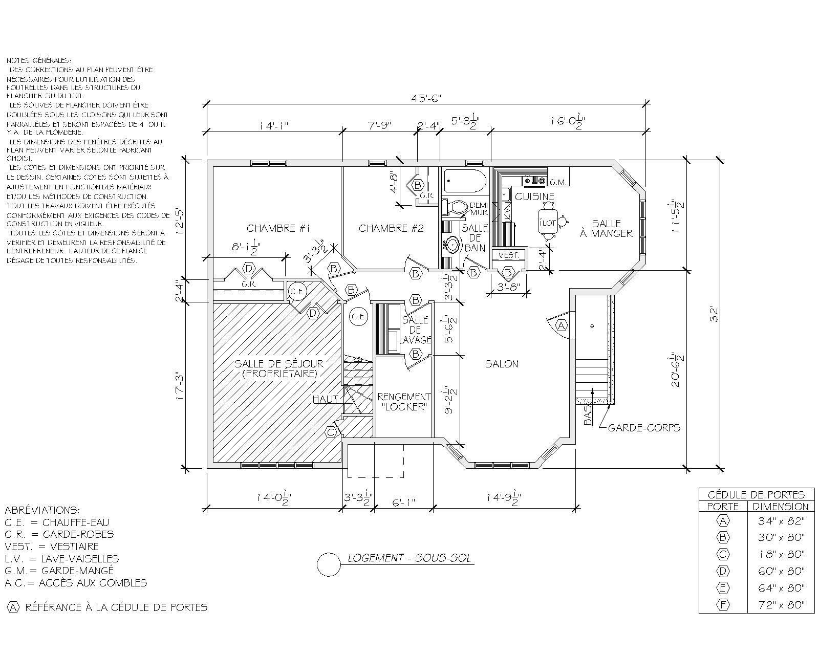 plan maison-logement