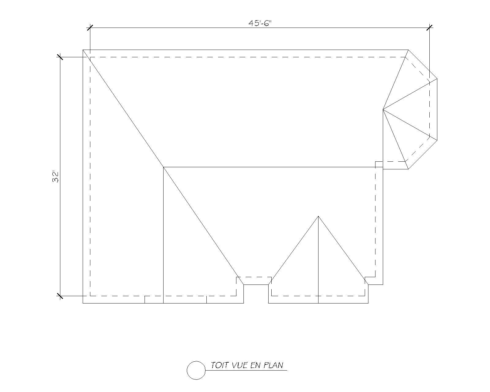 plan maison-toit